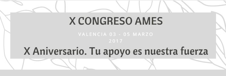 X Congreso AMES